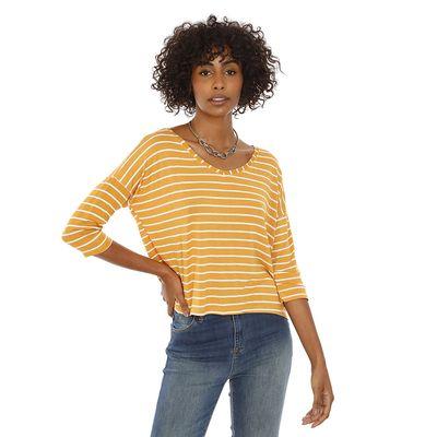 Blusa-Listrada-Malha-Amarelo