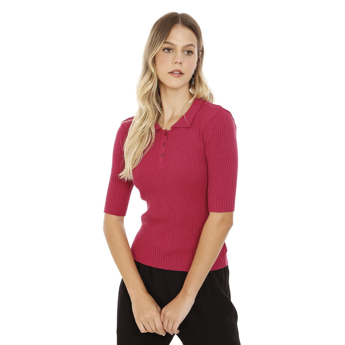Blusa-Lisa-Tricot-Rosa