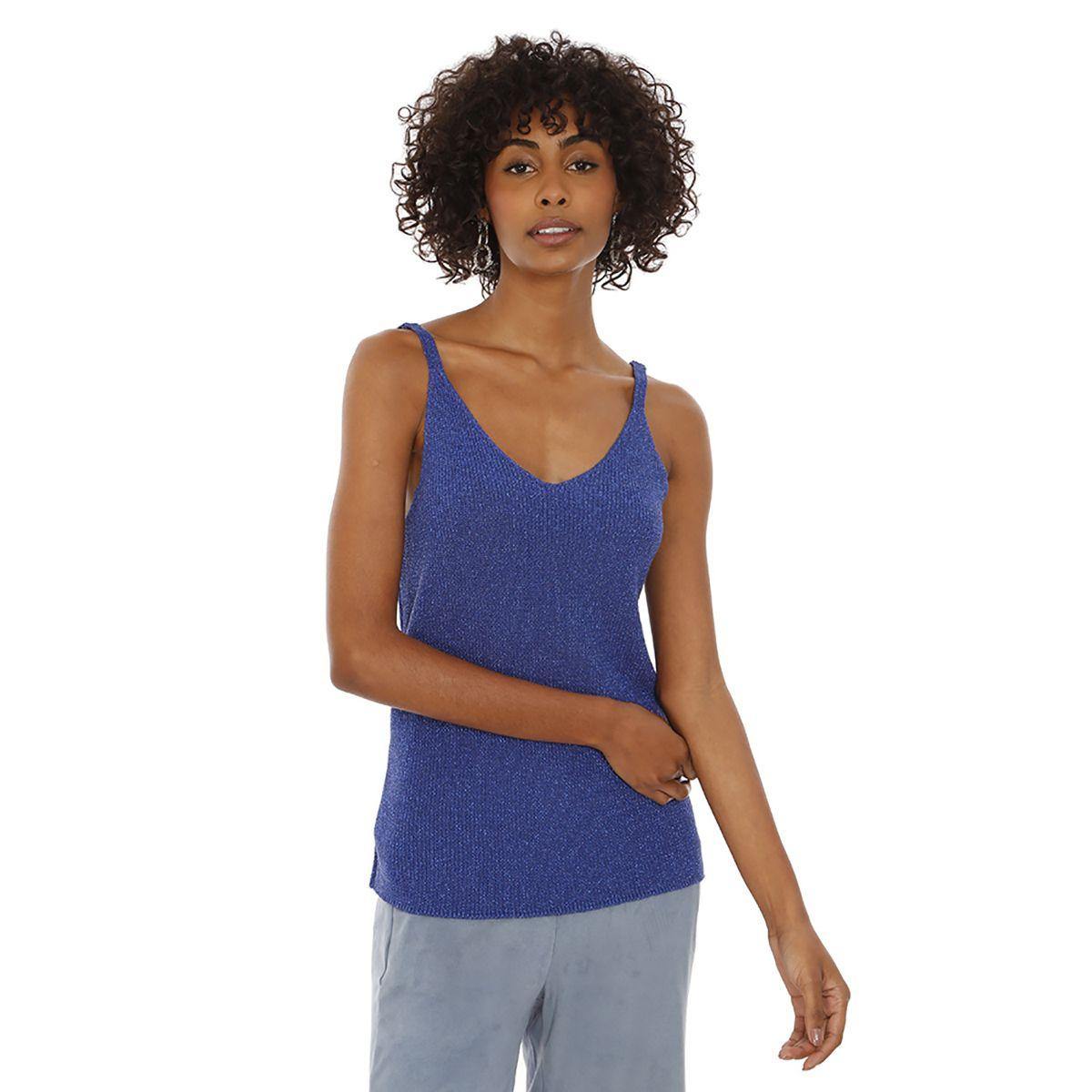 Blusa-Lisa-Tricot-Azul