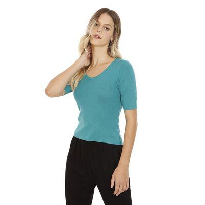 Blusa-Lisa-Tricot-Verde