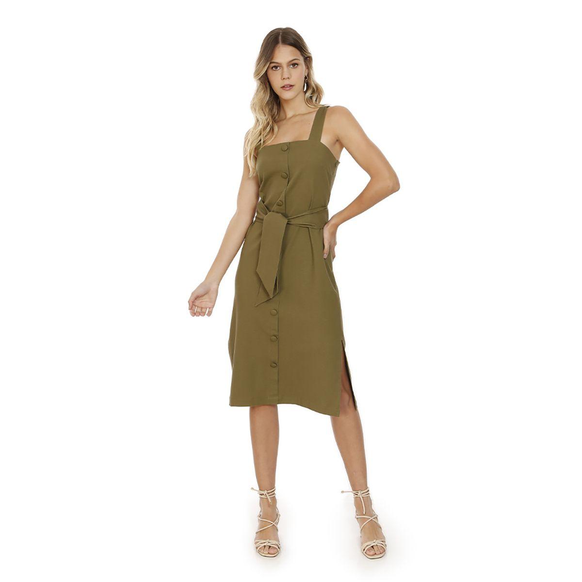 Vestido-Liso-Plano-Verde