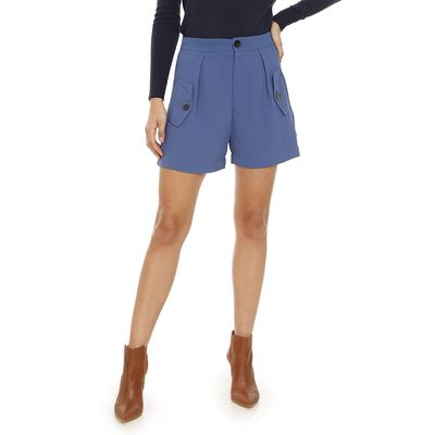 Shorts-Liso-Plano-Azul