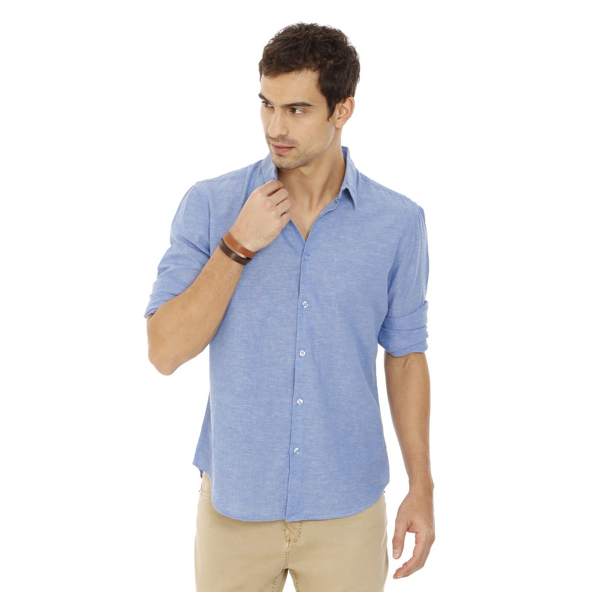 Camisa-De-Linho-Com-Algodao-Azul