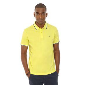 Polo-Lisa-Gola-Listras-2-Cores-Amarelo-
