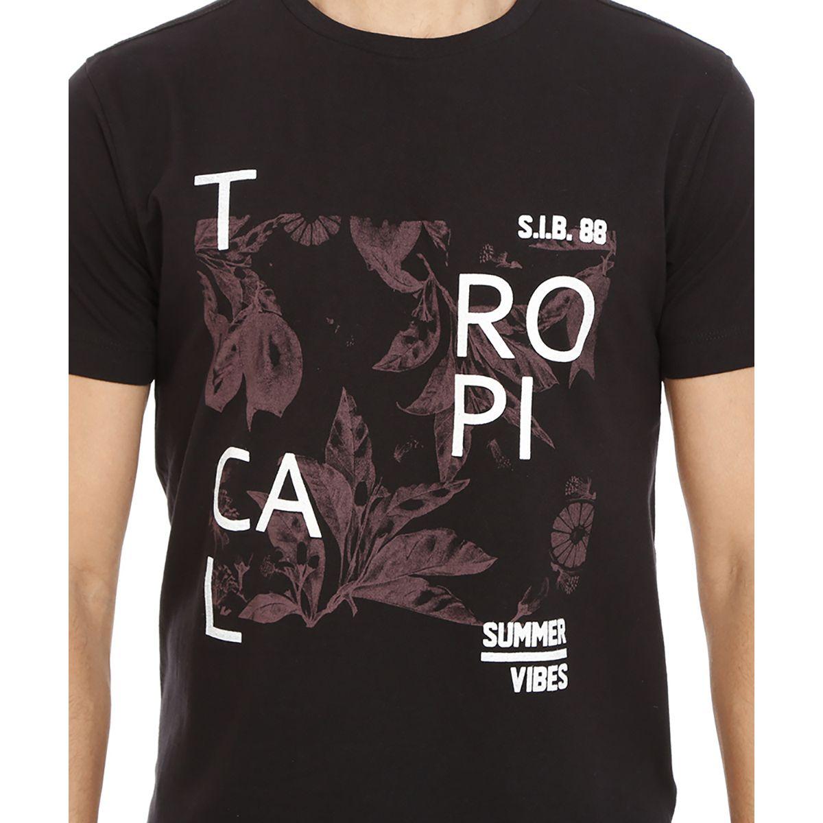 Camiseta-Gola-Careca-Estampada-Preto