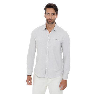 Camisa-Fio-Tinto-Micro-Maquinetado-Areia---GG