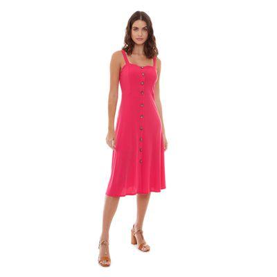 Vestido-Liso-Malha-Rosa